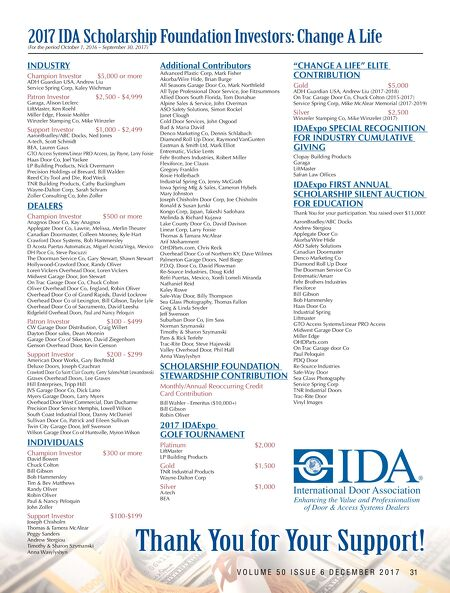 sc 1 st  International Door Association & International Door \u0026 Operator Industry - NOV-DEC 2017