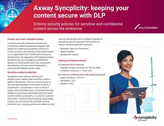 Syncplicity DLP Capability