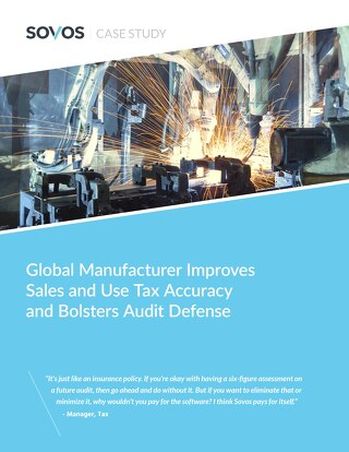 Global Manufacturer Sales & Use Tax Case Study