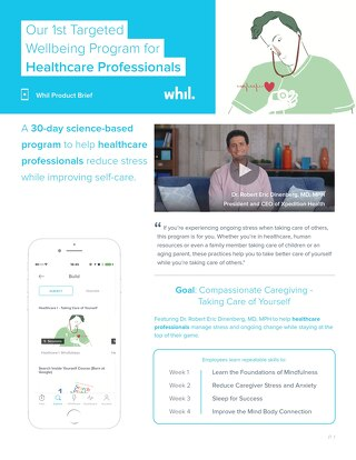 Product Brief: Our 1st Targeted Wellbeing Program for Healthcare Professionals