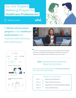 Product Brief: Our 2nd Targeted Wellbeing Program for Healthcare Professionals