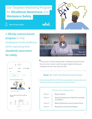 Product Brief: Our Targeted Wellbeing Program for Situational Awareness and Workplace Safety