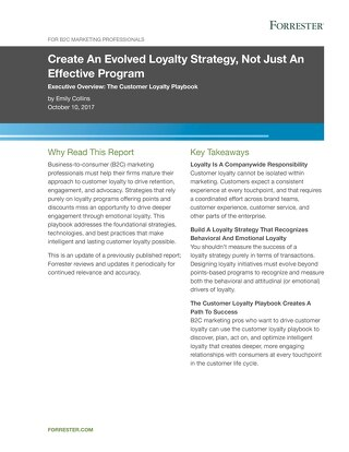 Create An Evolved Loyalty Strategy, Not Just An Effective Program