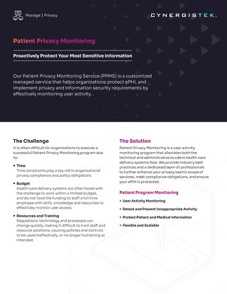 Patient Privacy Monitoring Service