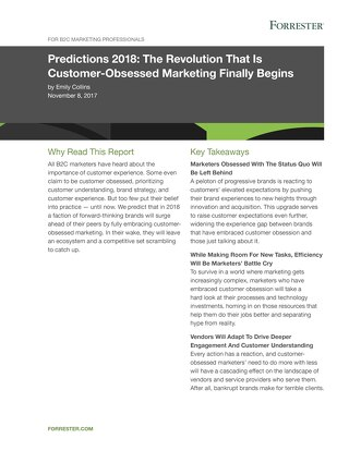 Predictions 2018- The Revolution That Is Customer-Obsessed Marketing Finally Begins