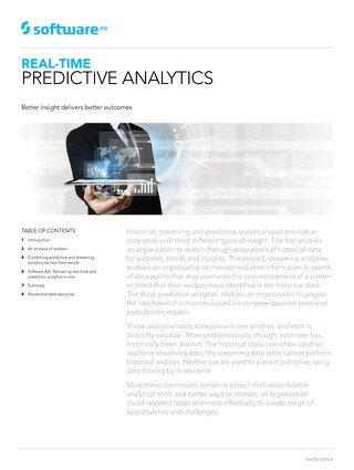 White paper: Why predictive analytics