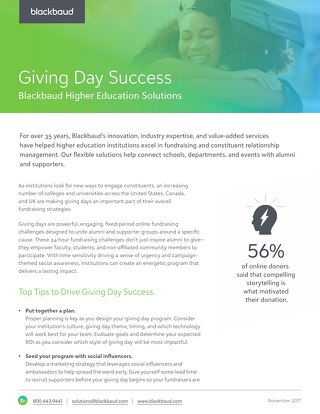 Giving Day Success