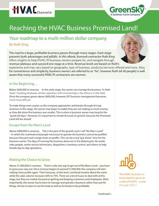 The HVAC Business Owner's Roadmap to Becoming a Multi-Million Dollar Company