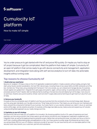 Facts about Cumulocity IoT