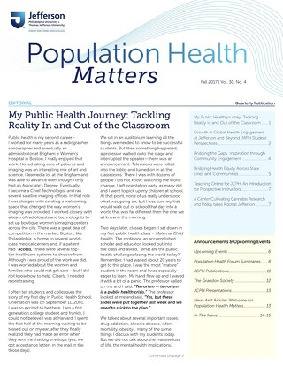 Population Health Matters Fall 2017