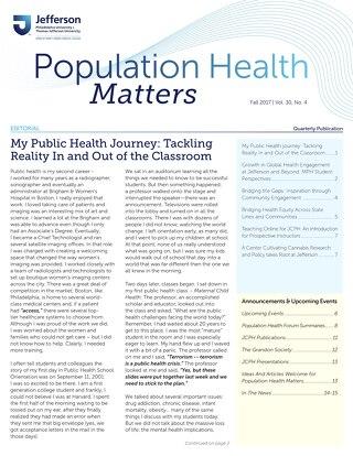 Population Health Matters Fall 2017