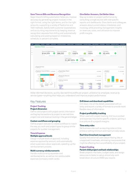 data sheets project management