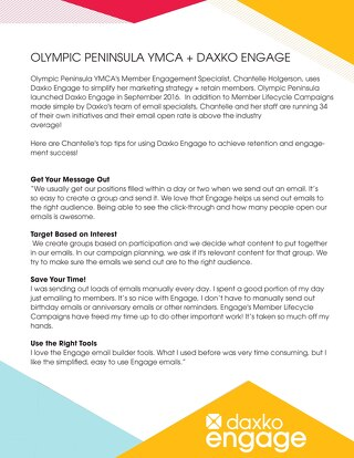 Olympic Peninsula YMCA & Daxko Engage
