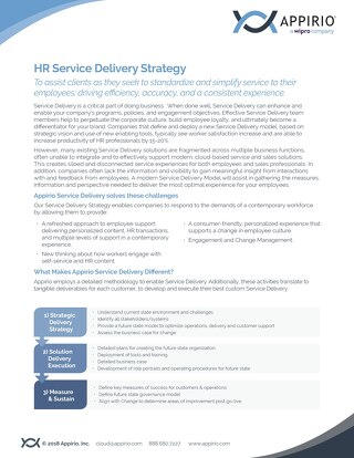 HR Service Delivery Strategy