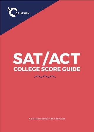SAT/ACT Score Guide