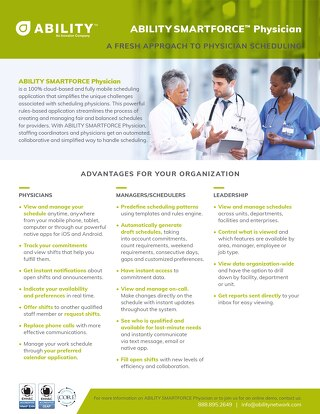 ABILITY SMARTFORCE Physician