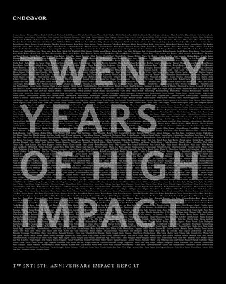 20th Anniversary Endeavor Impact Report