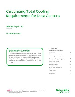 WP 25 - Calculating Total Cooling Requirements for Data Centers