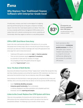 Why Replace Your Traditional Finance Software with Enterprise Excel