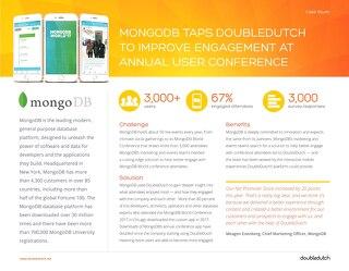 DoubleDutch + MongoDB