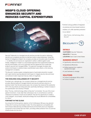 MSSP'S Cloud Offering Enhances Security and Reduces Capital Expenditure