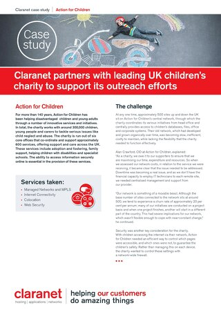 Action for Children partners with Claranet to support its outreach efforts