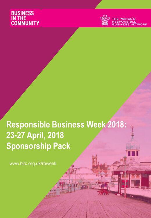 Responsible Business Week sponsorship pack 2018