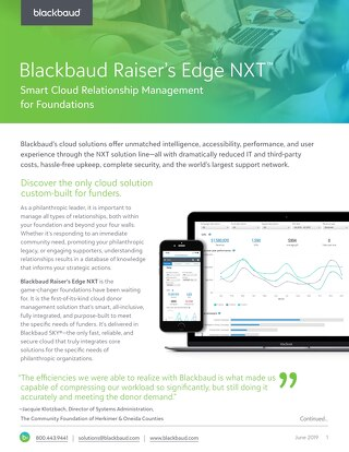 Blackbaud Raiser's Edge NXT for Foundations