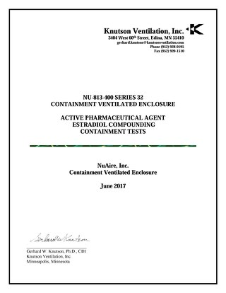 [Report] Containment Ventilated Enclosure (CVE) Containment Test