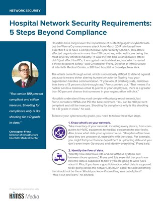 Hospital Network Security Requirements: 5 Steps Beyond Compliance