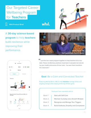 Product Brief: Our Targeted Wellbeing Program for Teachers