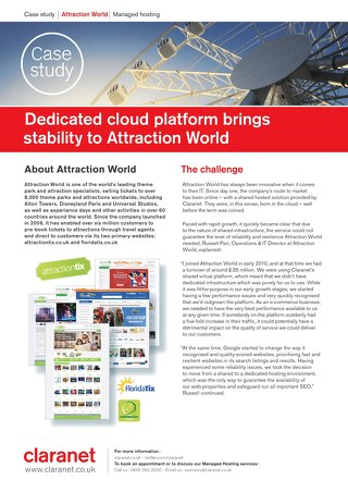 Dedicated cloud platform brings stability to Attraction World
