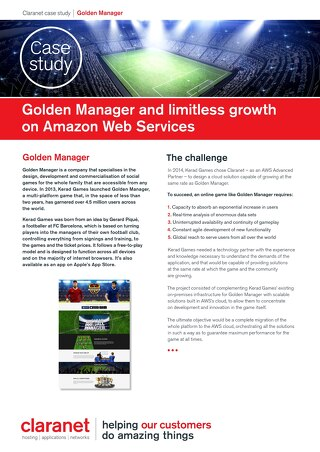 Golden Manager and limitless growth on Amazon Web Services