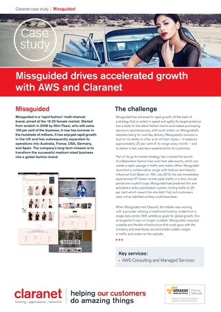 Missguided drives accelerated growth with AWS and Claranet