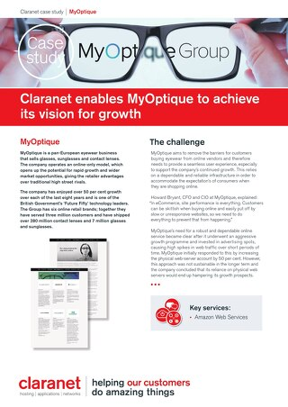 Claranet enables MyOptique to achieve its vision for growth