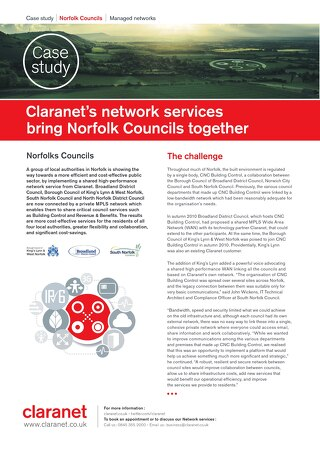 Claranets network services bring Norfolk Councils together