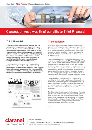 Third Financial hires Claranet to provide secure systems
