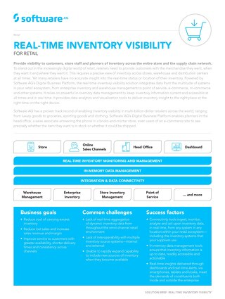 REAL-TIME INVENTORY VISIBILITY