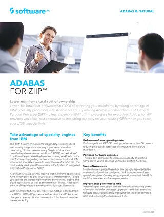 Facts about Adabas for zIIP™