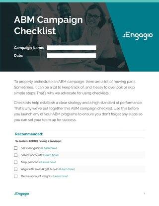 ABM Campaign Checklist