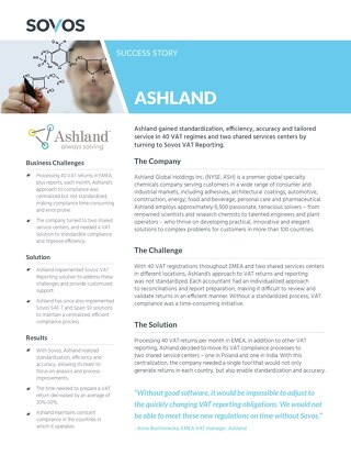 Sovos Client Success Story: Ashland