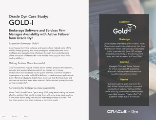 Oracle Dyn Case Study: Gold-i
