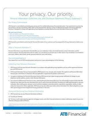 Your Privacy at ATB