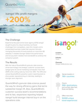 QuanticMind Customer Success Story - isango!