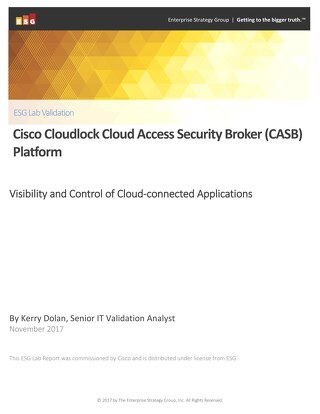 ESG Lab Validation - Cisco Cloudlock