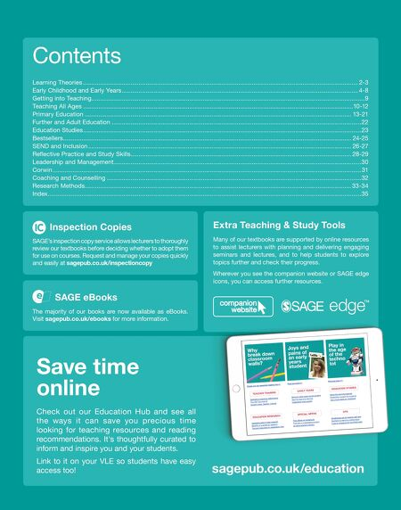 Sage education catalogue 2018 contents of this issue fandeluxe Images