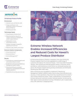 Extreme Wireless Network Enables Increased Efficiencies and Reduced Costs For Hawaii's Largest Produce Distributor