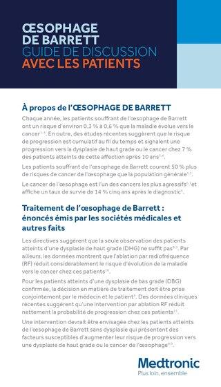 Oesophage de Barrett : Guide de discussion avec les patients
