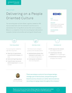 Delivering on a People Oriented Culture at Echo Global Logistics