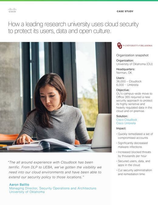 University of Oklahoma Customer Story